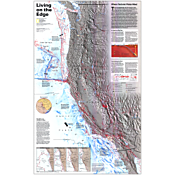 Living on the Edge Map, Laminated