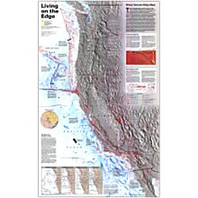 Living on the Edge Wall Map, Laminated