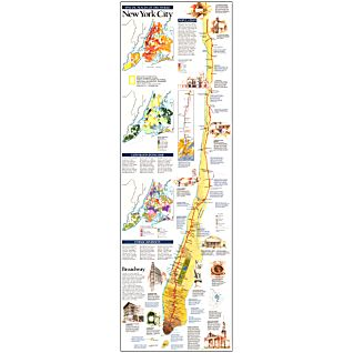 1990 Manhattan Map, Laminated