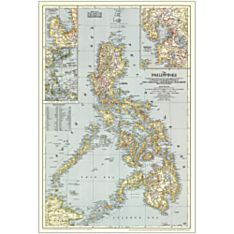 1945 Philippines Wall Map, Laminated