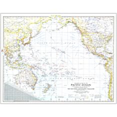 1942 Theater of War in the Pacific Ocean Map, Laminated