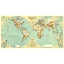 1935 World Wall Map