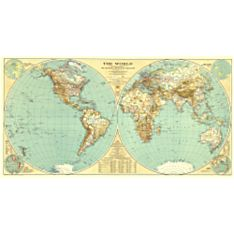Wall Art Map of the World