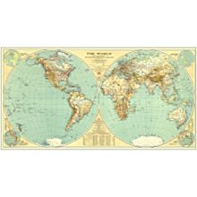 1935 World Map, Laminated