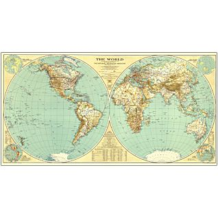 View 1935 World Map, Laminated image