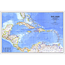 1981 West Indies and Central America Map