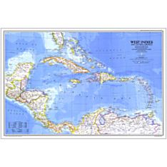 Map of America and the Caribbean
