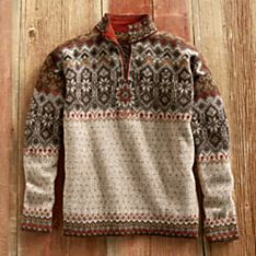 Men's Grecas Alpaca Sweater, Made in Bolivia