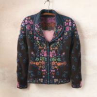 Cotton Sweaters - Serbian Cotton Flower Cardigan