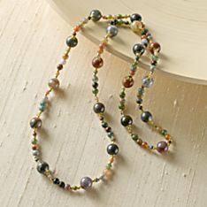 Beaded Jasper Court Necklace