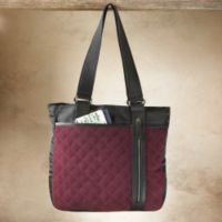 Quilted Purses - Essential Quilted Suede Travel Bag
