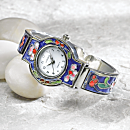 Chinese Cloisonne Garden Watch