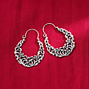 Egyptian Arabesque Sterling Silver Earrings