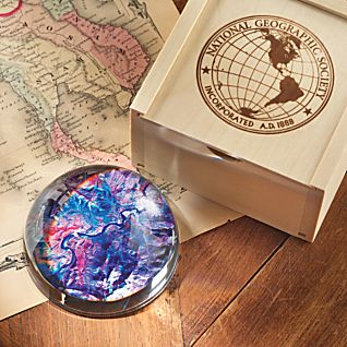 View Satellite Map Paperweight image