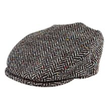 Handwoven Herringbone Donegal Cap