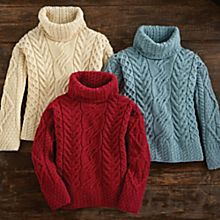 Aran Wool Sweaters Women
