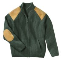 Irish Wool Cardigan - Irish Wool Military Cardigan