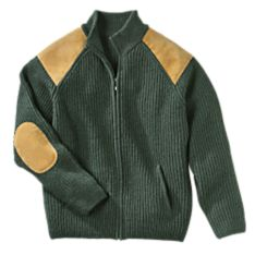 Men's Irish Wool Military Cardigan
