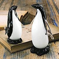 St. Petersburg Glass Penguins - Set of 2