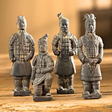 Handcrafted Terra-Cotta Chinese Warriors - Set of 4