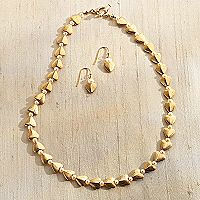Afghan Heart Necklace with Pearl