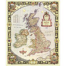 1949 British Isles Map, Laminated