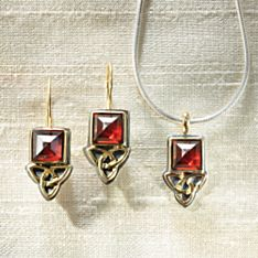 Celtic Aria Garnet Earrings