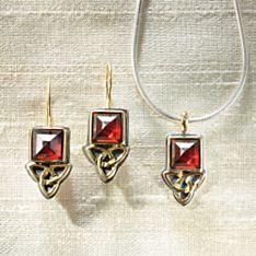 Celtic Aria Garnet Earrings