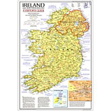 1981 Ireland And Northern Ireland Visitors Guide Map, Laminated