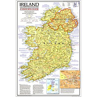 View 1981 Ireland And Northern Ireland Visitors Guide Map, Laminated image
