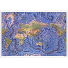 1981 World Ocean Floor Wall Map, Laminated