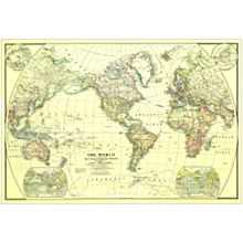 1922 World Map, Laminated