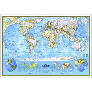 1994 World Political Map, Laminated