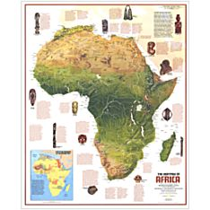 1971 Ethnolinguistic Wall Map of the Peoples of Africa, Laminated