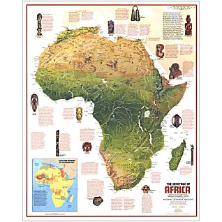 1971 Ethnolinguistic Map of the Peoples of Africa, Laminated