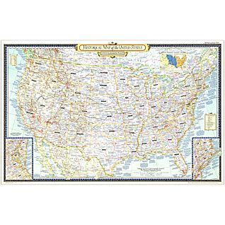 View 1953 Historical Map of the United States, Laminated image