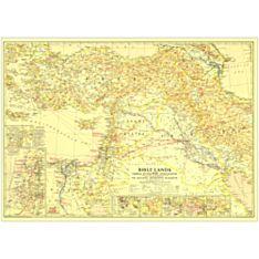 1946 Bible Lands, and the Cradle of Western Civilization Wall Map, Laminated