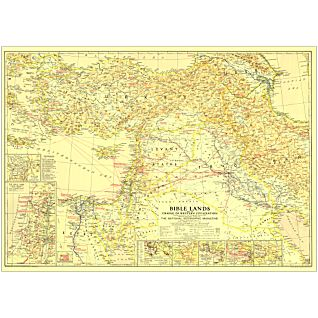 View 1946 Bible Lands, and the Cradle of Western Civilization Map, Laminated image