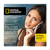National Geographic Talk Abroad Travel Phone SIM Card 1074681
