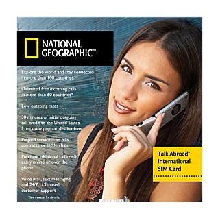National Geographic Talk Abroad Travel Phone SIM Card