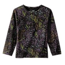 Women's Indian Black and Lavender Henna Shirt