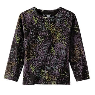 View Indian Black and Lavender Henna Shirt image