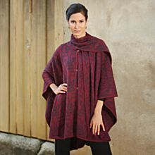 Traditional Peruvian Wildflower Alpaca Wool Cloak