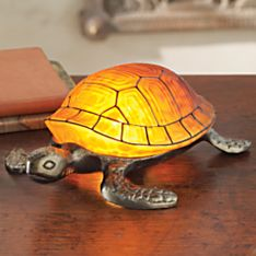 Art Nouveau-inspired Tortoise Lamp