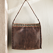 Bolivian Leather and Aguayo Bag