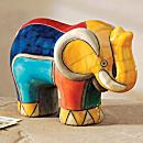 South African Raku Elephant