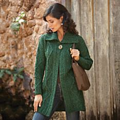 Irish Wool Sweater Jacket