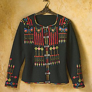 Folkloric Boiled-wool Jacket