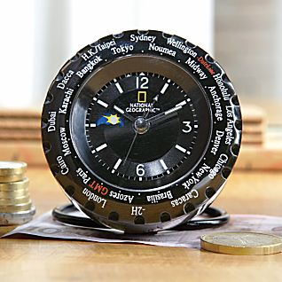 National Geographic World Time Travel Clock