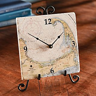 View Custom Nautical Tile Clock image